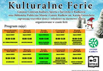 Kulturalne ferie w Domu Kultury i w Bibliotece