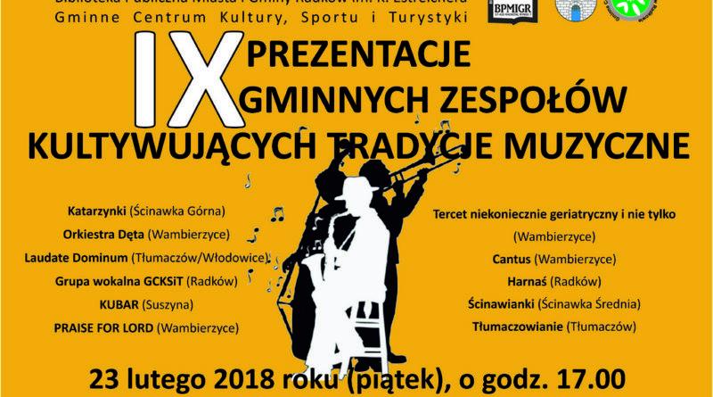 IX Prezentacje Gminnych Zespołów Kultywujących Tradycje Muzyczne